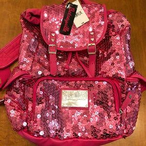Betsyville Pink Sequin Backpack